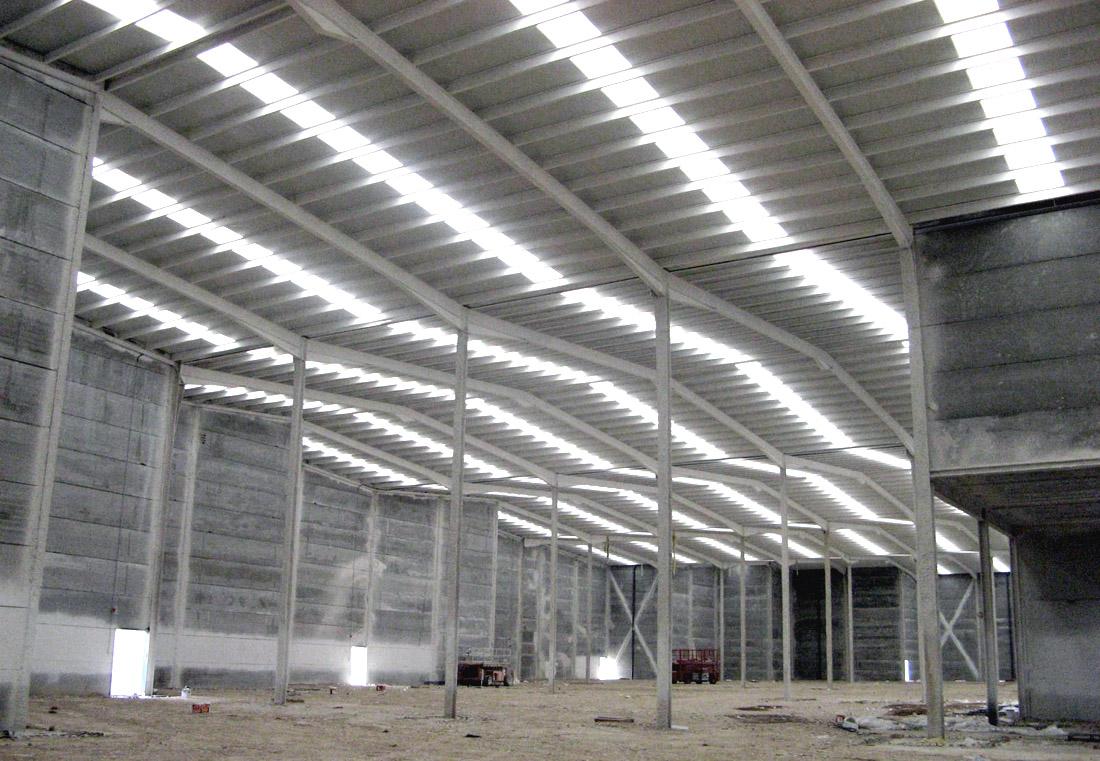 Naves industriales 42 m2 estructuras metalicas nave for Calefactores para naves industriales